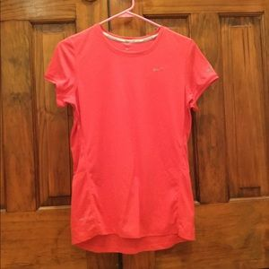 Nike Coral Dri-Fit running short sleeve
